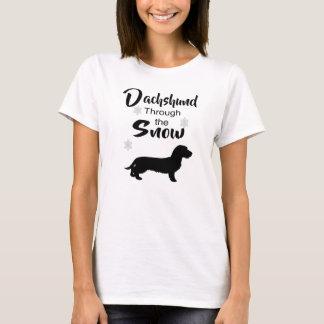 Weiner dog winter fun T-Shirt