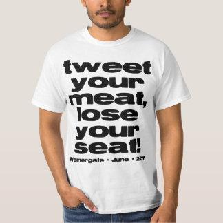 Weinergate 2011 - Tweet Your Meat T-Shirt