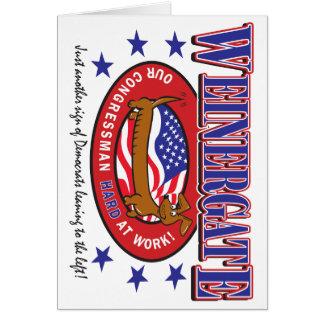 Weinergate - The Congressmans Weiner Greeting Card