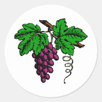 weintrauben vine grapes vine classic round sticker