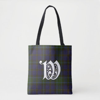 Weir Clan Tartan Monogram Tote Bag