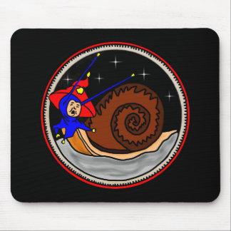 Weird Alien Snail Mouse Pad