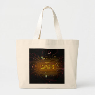 Weird and wonderful. large tote bag