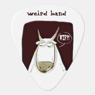 weird band wtf cattle cartoon guitar pick