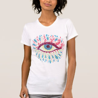 Weird Blue Psychedelic Eye T-Shirt