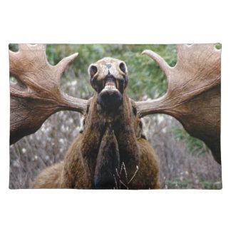 weird bull moose placemat