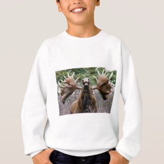 weird bull moose sweatshirt