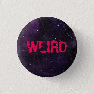 Weird button, space background. 1 inch round button