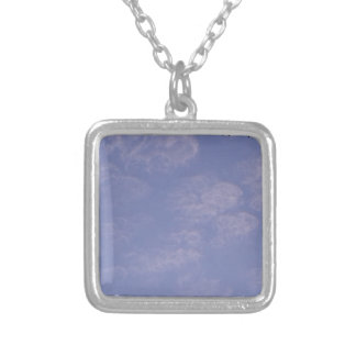 Weird Clouds 1 Silver Plated Necklace