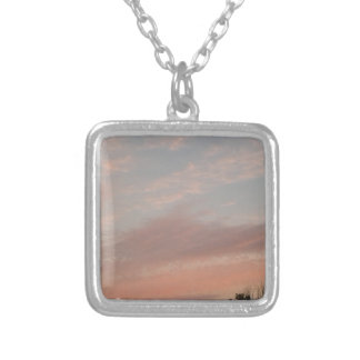 Weird Clouds 2 Silver Plated Necklace