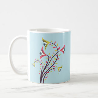 Weird Colorful Flowers With Staring Eyes Coffee Mug