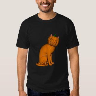 Weird Halloween Cat Tee Shirt