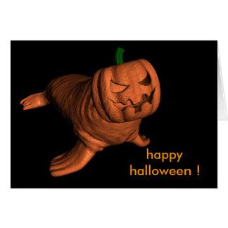 Weird Halloween Walrus Card
