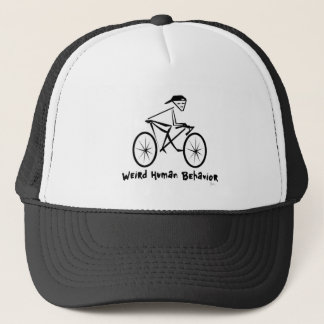 Weird Human Behavior Bicycler Trucker's Hat
