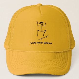 Weird Human Behavior Skateboarder Trucker Hat