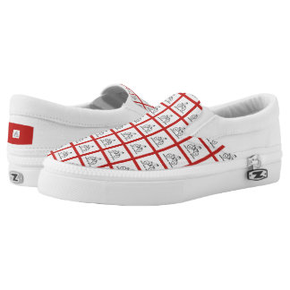 Weird Human Behaviour Plaid Bicycle Slip On Shoes