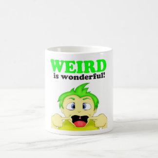 Weird is wonderful! basic white mug