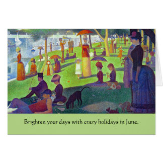 weird June holidays Card