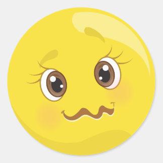 Weird Little Emoji Face Stickers