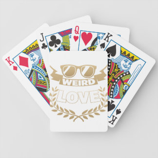 weird love bicycle playing cards