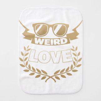 weird love burp cloth