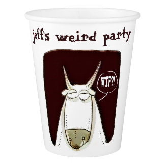 weird party funny cattle humorous cartoon paper cup