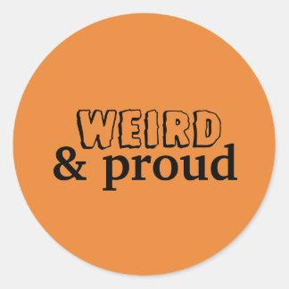 Weird & Proud Sticker