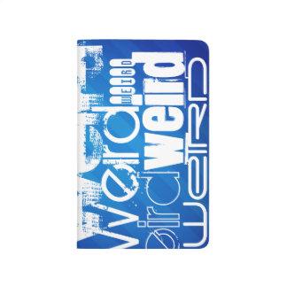 Weird; Royal Blue Stripes Journals