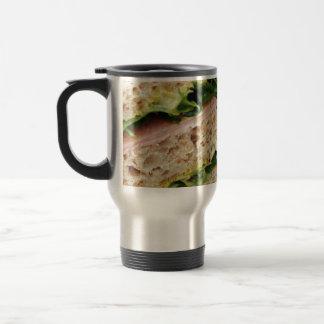 Weird Sandwich Print - Bread and Lettuce Travel Mug