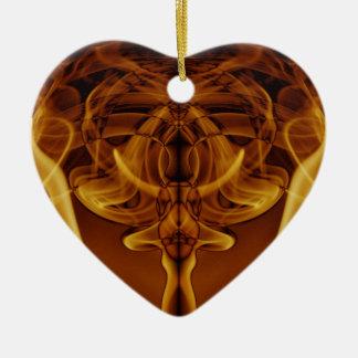Weird Smoke (40).JPG Ceramic Heart Ornament