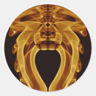Weird Smoke (41).JPG Classic Round Sticker