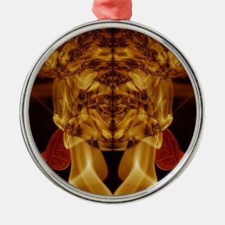 Weird Smoke (44).JPG Silver-Colored Round Ornament
