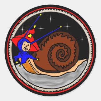 Weird Snail Classic Round Sticker