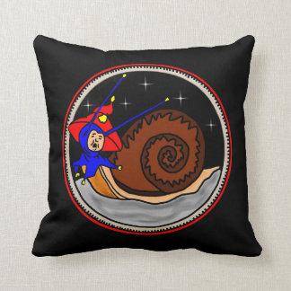 Weird Snail Throw Pillow