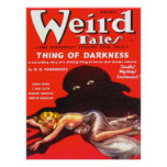 WEIRD TALES Cool Vintage Pulp Magazine Cover Art Poster