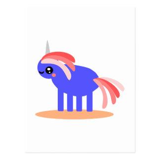 Weird Unicorn Postcard