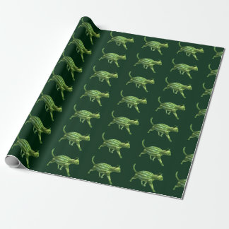 Weird Watermelon Green Cat Hybrid Wrapping Paper