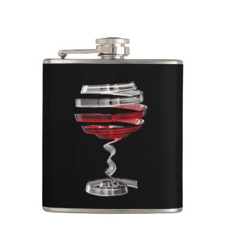 Weird Wine Glass 6 oz Vinyl Wrapped Flask