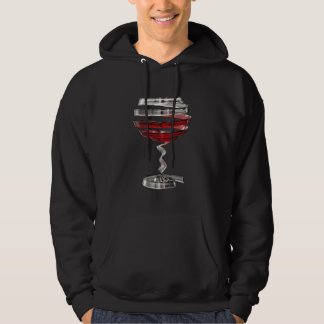 Weird Wine Glass Black Hoodie