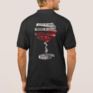 Weird Wine Glass Black Polo Shirt