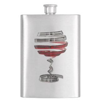 Weird Wine Glass Classic Flask