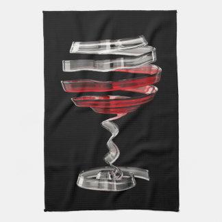 Weird Wine Glass Kitchen Towel