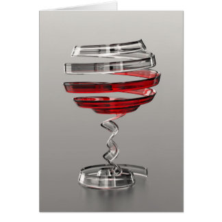Weird Wine Glass Note Card
