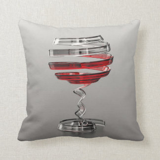Weird Wine Glass Throw Pillow