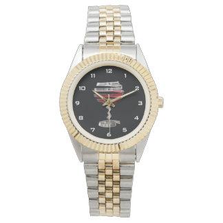 Weird Wine Glass Two-Tone Bracelet Watch