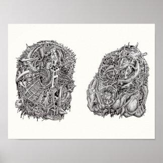 Weirdheads by Brian Benson Poster