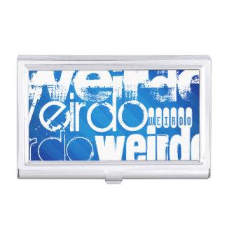 Weirdo; Royal Blue Stripes Business Card Holder