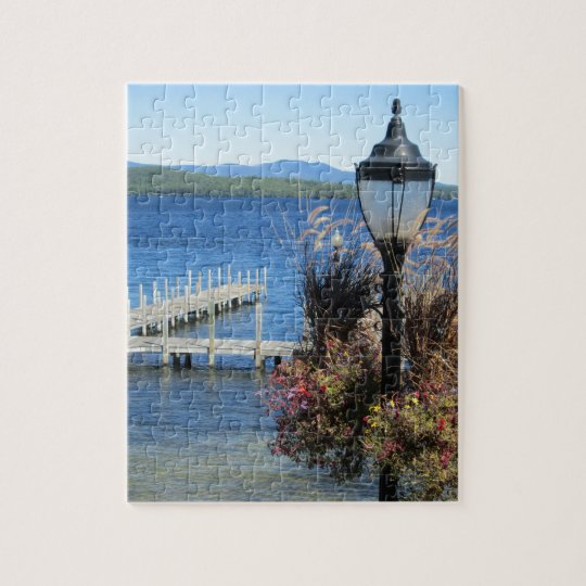 Weirs Beach Dock Jigsaw Puzzle