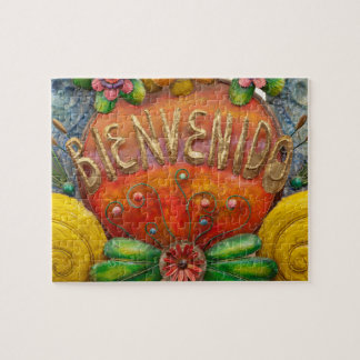 Welcom sign in Spanish, Mexico Jigsaw Puzzle