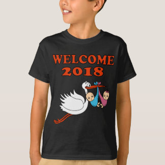 Welcome 2018 baby pregnancy birth T-Shirt